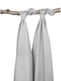 Комплект бамбуковых пеленок Jollein 115х115 см, цвет серый, 2 шт