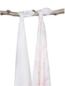 Комплект бамбуковых пеленок Jollein 115х115 см, цвет воздушные шары розовые, 2 шт