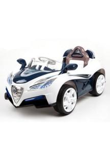 Детский электромобиль Bugatti 5588 синий с белым Rivertoys