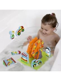 """Мягкий 3D-конструктор """"Парк развлечений"""" для игры в ванне Edushape Floating Blocks"""