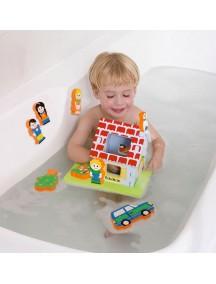 """Мягкий 3D-конструктор """"Плавающий Дом"""" для игры в ванне Edushape Floating Blocks"""