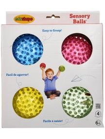 """Набор 4 детских игровых массажных мячей цвет в ассортименте Edushape Senso-Dot Balls 4"""""""
