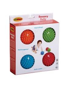 """Набор 4 детских игровых массажных мячей цвет в ассортименте Edushape Sensory Opaque Balls 4"""""""