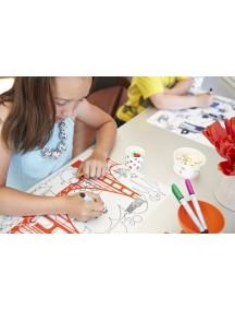 Детская салфетка-раскраска многоразовая GOLDEN GATE (подарочный набор)