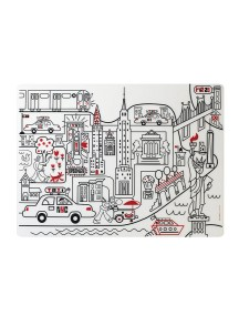Детская салфетка-раскраска многоразовая NEW YORK (подарочный набор)