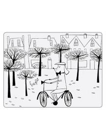 Детская салфетка-раскраска многоразовая POOCH IN THE PARK (подарочный набор)
