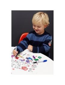 Детская салфетка-раскраска многоразовая ALPHABET ANIMALS (подарочный набор)