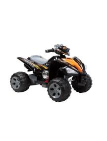 Детский электроквадроцикл QUATRO JS 007 (черно-оранжевый) Rivertoys