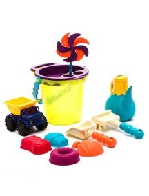 Игровой набор для песка в сумке (зеленый) B Dot. Battat