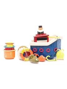 Кораблик с игрушками для ванны B Dot/Battat (Канада)
