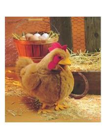 Мягкая игрушка на руку Красная Курица, 38 см от Folkmanis