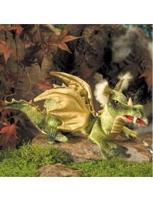 Мягкая игрушка на руку Зеленый Дракон, 36см от Folkmanis
