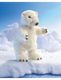 Мягкая игрушка на руку Медведь полярный, 31см от Folkmanis
