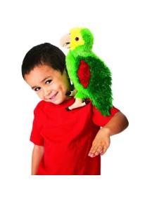 Мягкая игрушка на руку Попугай амазонский, 36см от Folkmanis