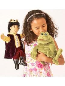 Мягкая игрушка на руку Принц-лягушка, 36см от Folkmanis
