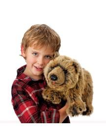 Мягкая игрушка на руку Медведь Гризли, 38см от Folkmanis