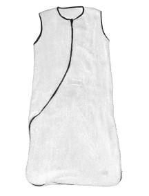 Махровый спальный мешок Jollein 90 см, цвет белый/серый