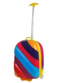 Чемодан радужный на колесах Bouncie Rainbow Misty (чемодан-тележка радуга Мистический)