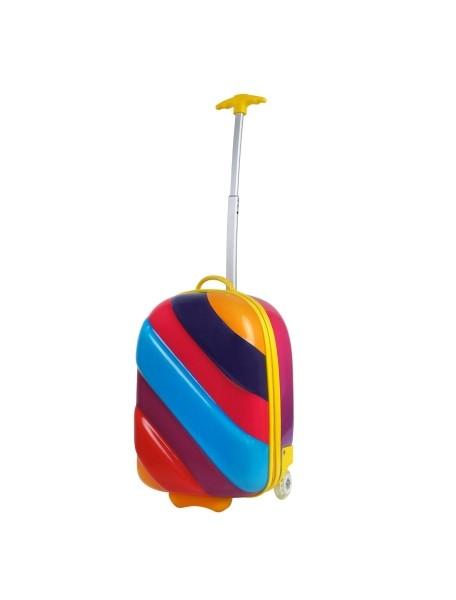 Радужный чемодан на колесах Bouncie Rainbow Misty ( чемодан-тележка радуга Мистический)