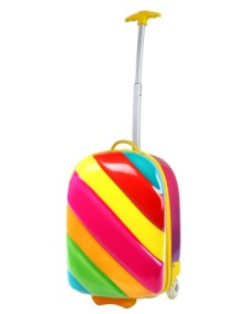 Чемодан радужный на колесах Bouncie Rainbow Candy (чемодан-тележка Радуга Канди)