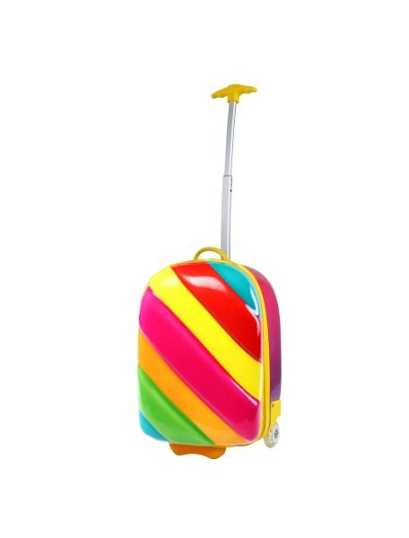Радужный чемодан на колесах Bouncie Rainbow Candy (чемодан-тележка Радуга Канди)