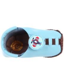 Детская обувь Shupeas Original. Натуральная кожа. Цвет - Голубой. Рисунок - Самолет