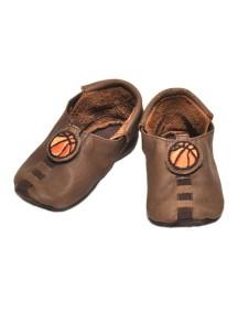 Детская обувь Shupeas Original. Натуральная кожа. Цвет - Коричневый. Рисунок - Баскетбол