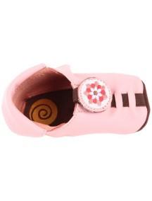 Детская обувь Shupeas. Натуральная кожа. Цвет - Розовый. Рисунок - Цветок