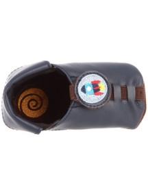 Детская обувь Shupeas. Натуральная кожа. Цвет - Синий. Рисунок - Ракета