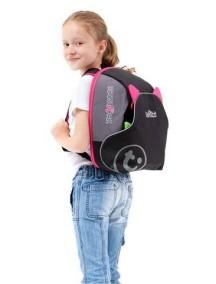 """Trunki """"BosstApak"""" Универсальный детский рюкзак-бустер, Черно-розовый"""