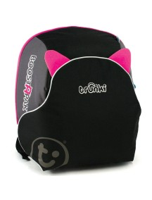 Trunki BosstApak Универсальный детский рюкзак-бустер Транки Бустапак, Черно-розовый