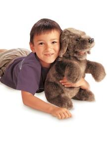 Мягкая игрушка на руку Собака сидящая, 38см от Folkmanis