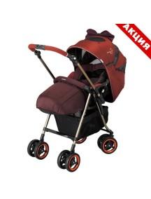 Детская коляска MiracleTurn Elite, COMBI, Orange (оранж)(+дождевик Combi +москитная сетка)+ПОДАРОК зимний конверт (муфта)