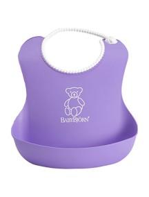 BabyBjorn Нагрудник мягкий пластиковый для кормления ребенка, Лиловый