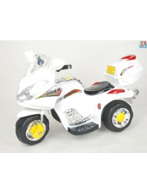 Детский мотоцикл МОТО HJ 9777 (белый) Rivertoys