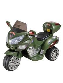 Детский мотоцикл МОТО HJ 9777 (зеленый) Rivertoys