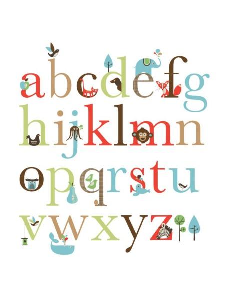 Набор наклеек в детскую Skip Hop Wall Decals - Alphabet Zoo
