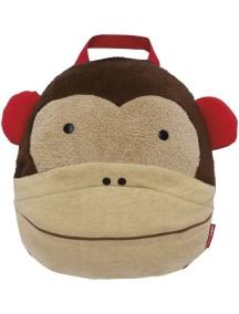 Одеяло-подушка в дорогу Skip Hop Zoo Travel Blanket - Monkey