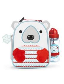 Подарочный набор термо-сумка и бутылочка Skip Hop Zoo Lunchies - Polar Bear (Белый мишка)