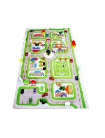 Детский гипоаллергенный игровой 3D ковер IVI, Трафик Зеленый - 80х150 см.