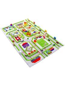 Детский гипоаллергенный игровой 3D ковер IVI, Трафик Зеленый - 160х230 см.