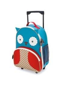 Детский чемодан на колесах Skip Hop Zoo Luggage - Owl (Совенок)