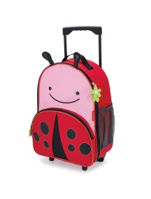 Детский чемодан на колесах Skip Hop Zoo Luggage - Ladybug (Божия коровка)