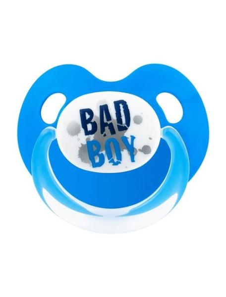 "Bibi ""Dental Basic Care"" Дневная пустышка силикон до 6 мес. Форма скошенная [ art. 112371 ], Bad Boy"