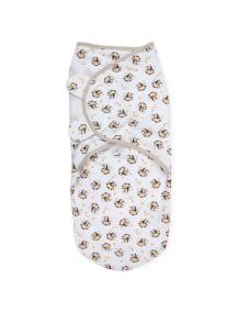 """Summer Infant """"SwaddleMe"""" Конверт для пеленания с рождения и до 4-х месяцев, 72060 / Белый с мартышками, S/M"""