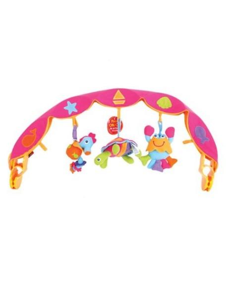 Tiny Love Детская дуга музыкальная с 3 игрушками, Розовый / 381
