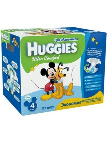 """Huggies """"Ultra Comfort"""" Подгузники для мальчиков одноразовые от 8 до 14 кг, упаковка 126 шт."""