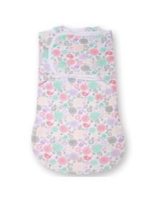 """Summer Infant """"SwaddleMe WrapSack"""" Конверт для пеленания с 2-мя способами фиксации, 75920 / Цветы и птицы, S"""