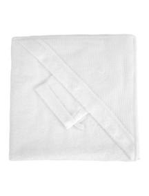 "Red Castle ""Hooded Towel"" Махровое полотенце с уголком и варежка для купания , 030432 / White"