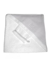 """Red Castle """"Hooded Towel"""" Махровое полотенце с уголком и варежка для купания , 030408 / White-Grey"""